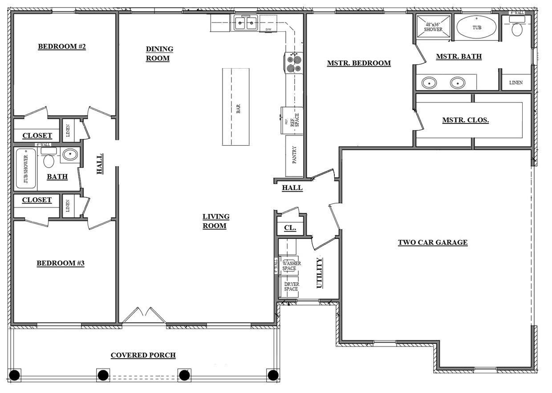 1500 Floor Plan